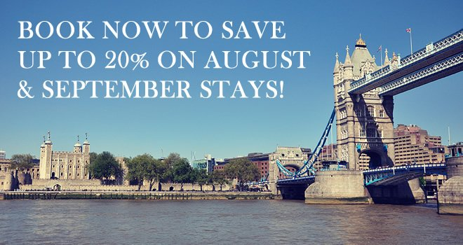 How to Save Up to 20% on August & September Stays!