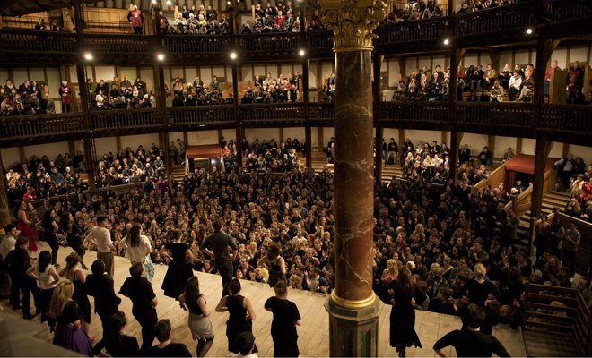 Shakespeare's Globe Theatre - Interior. Photo by Manuel Harlan and provided by Shakespeare's Globe Press Office.
