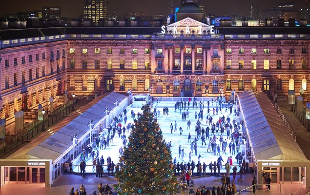 Skate at Somerset House with Fortnum & Mason. Photo by James Bryant.