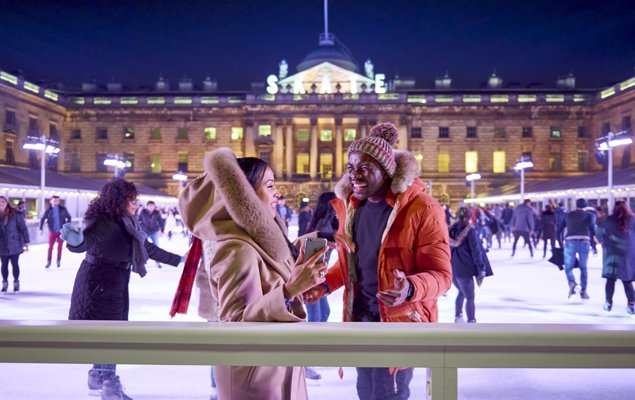 Club Nights - Skate at Somerset House with Fortnum & Mason. Photo by James Bryant.