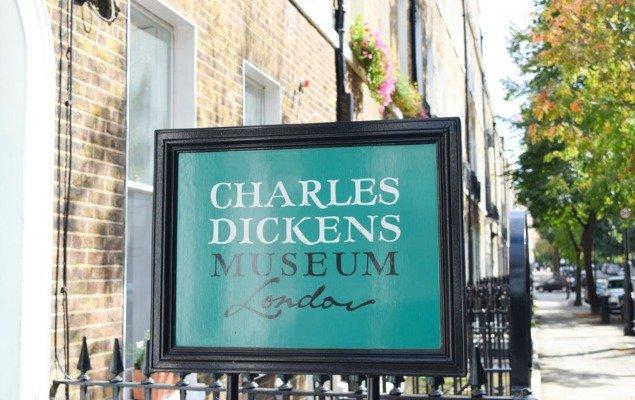 Charles Dickens Museum Sign London