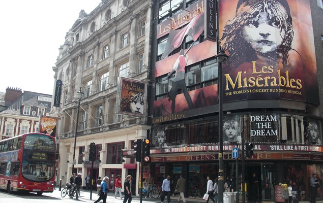 Les Misérables at the Queen's Theatre in London. Image by Belinda.