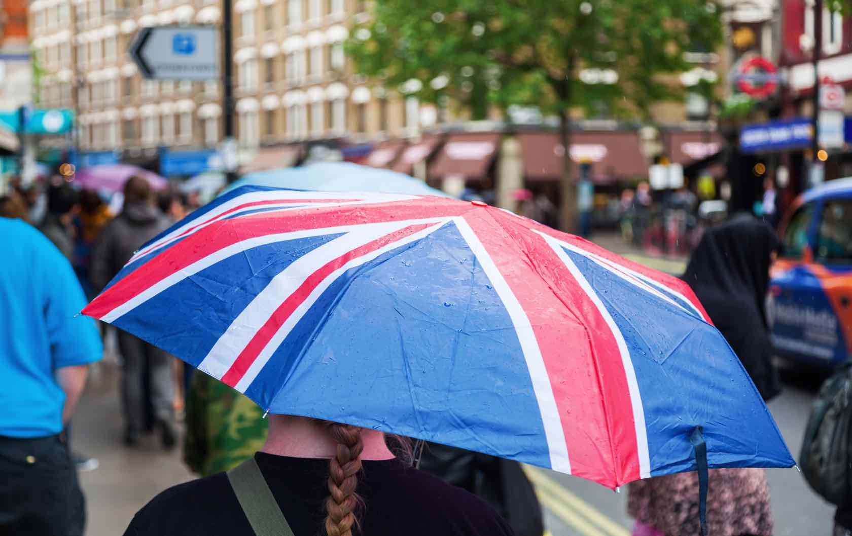 what to do when it's raining in London by London Perfect Union Jack Umbrella