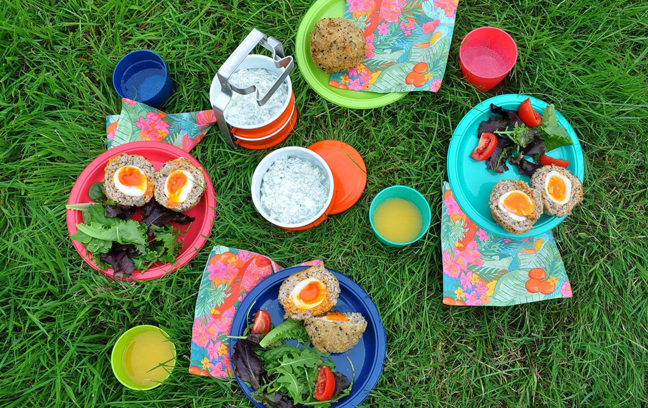 Scotch Egg picnic scene extra