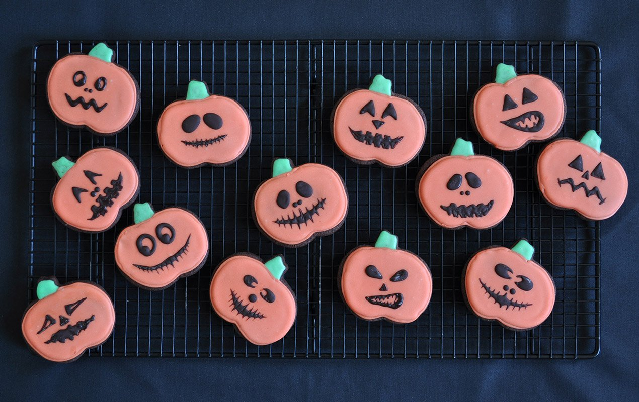 Recipe For Spooky Chocolate–Orange Pumpkin Cookies