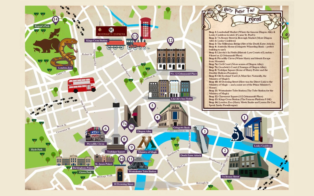 A Magical Guide To Harry Potter's London!