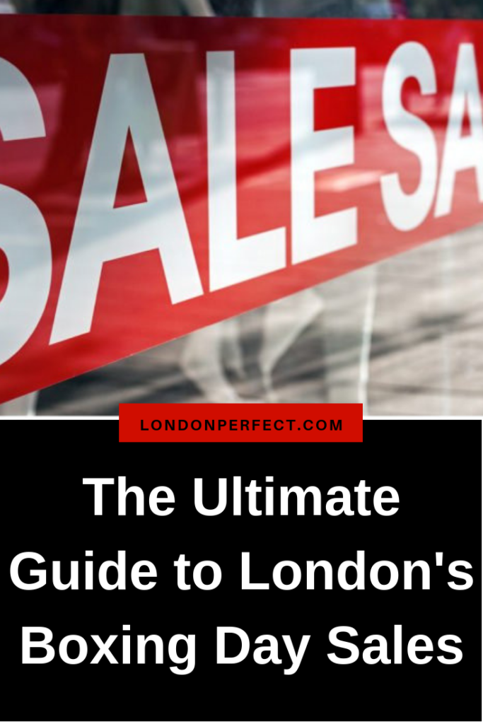 The Ultimate Guide To The Boxing Day Sales by London Perfect