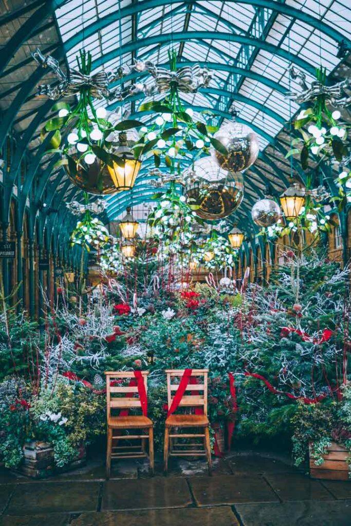 Christmas decor in London