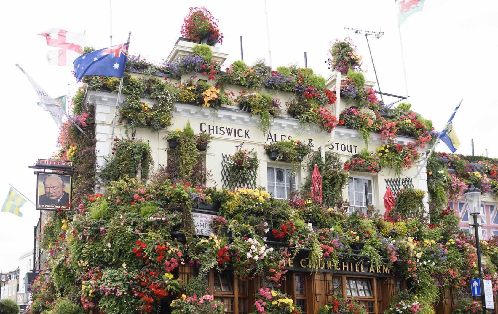 Churchill Arms Pub Kensington
