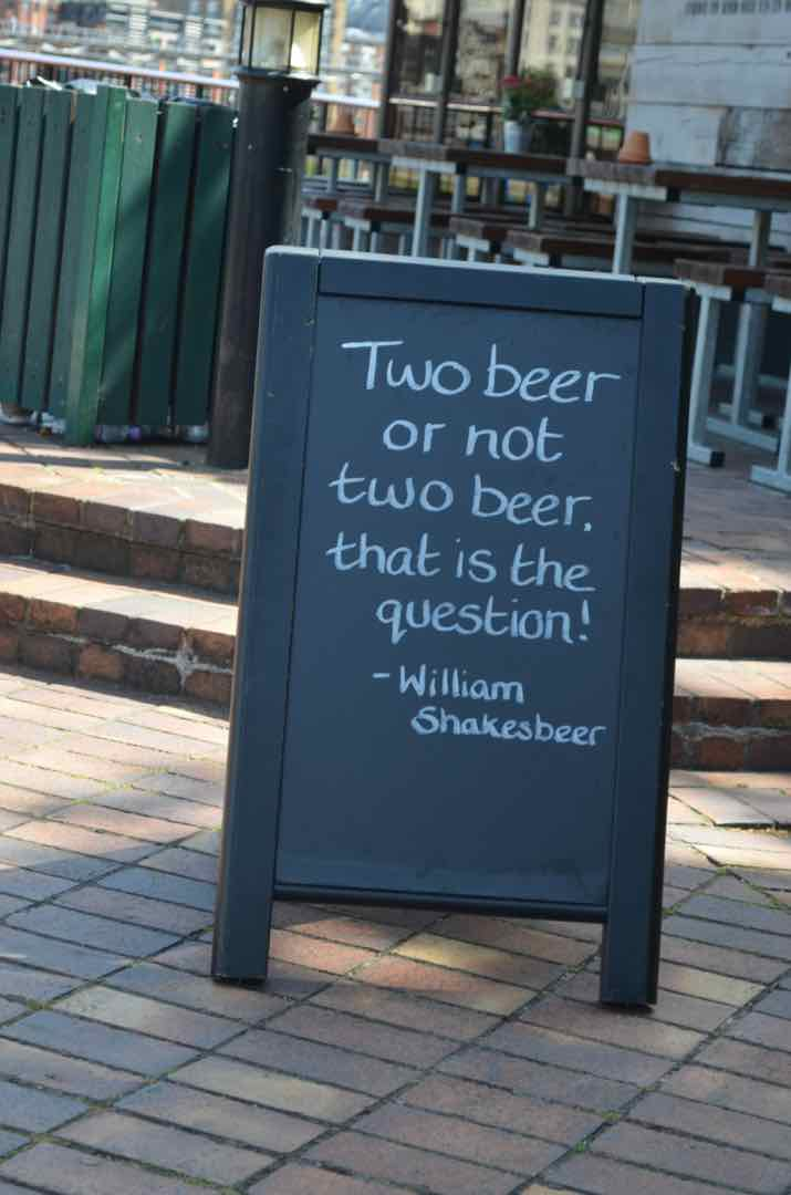 British beer sign