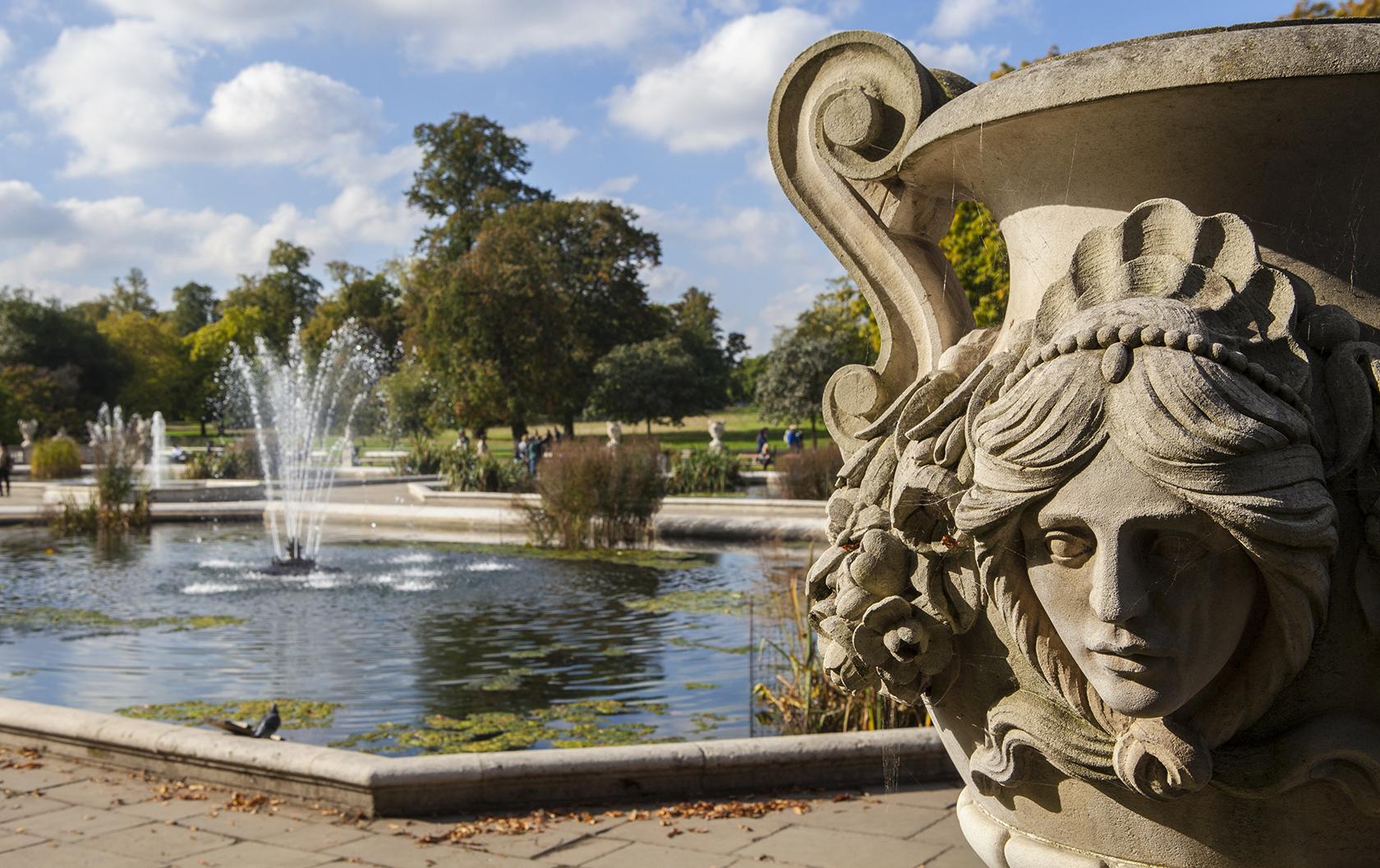 Italian Gardens in London's Kensington Gardens