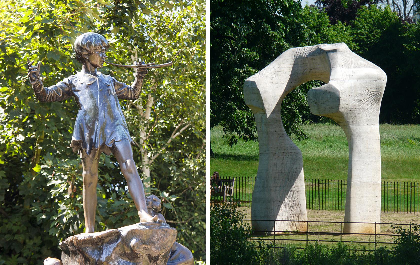Sculptures in Kensington Gardens