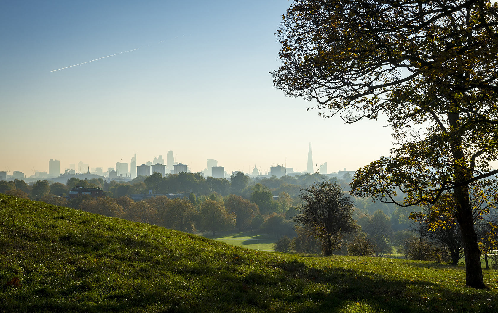 Beautiful view of London's skyline from Primrose Hill