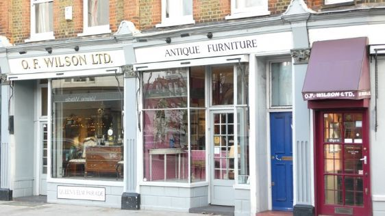 Antique shopping along Fulham Road in Chelsea