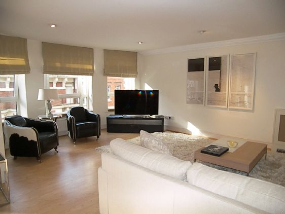 Spacious living room of our Gainsborough apartment rental