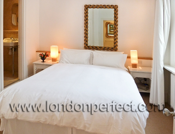Comfortable bed In Large Bedroom