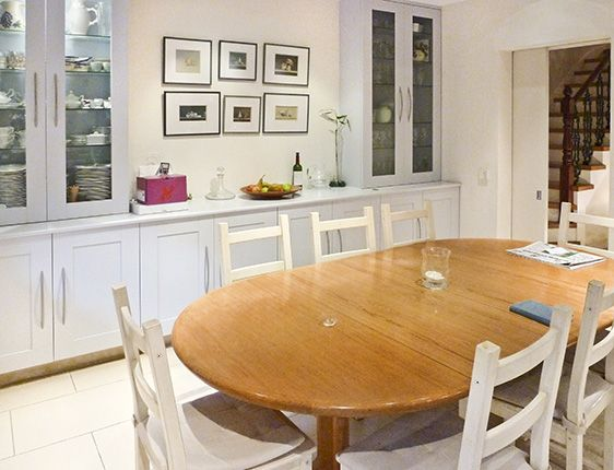 White Wooden Kitchen Table And Chairs images