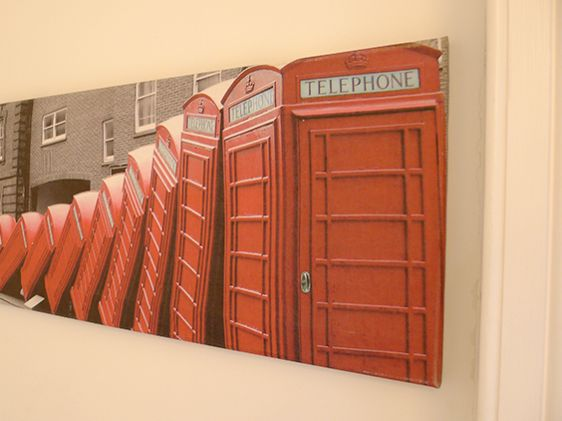 Those classic red London phone booths!