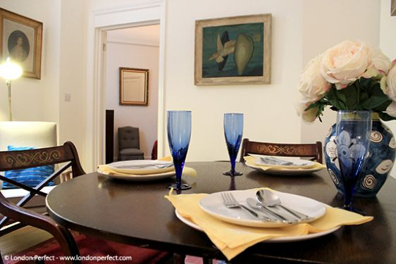 A peaceful setting for dining at home in Chelsea