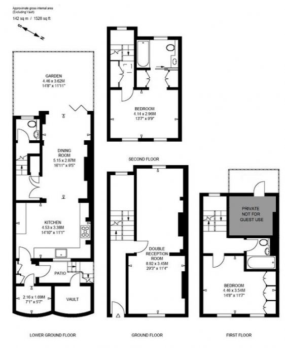 London vacation rental in south kensington for Walton house floor plan