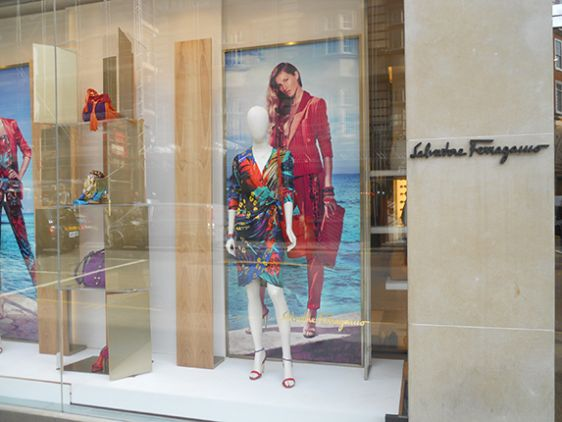 Designer shopping on Sloane Street in Chelsea