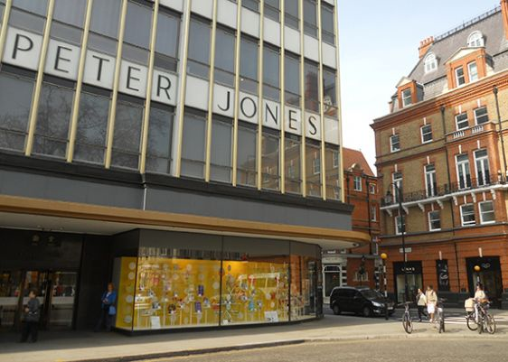 Fabulous home décor shopping at Peter Jones on Sloane Square