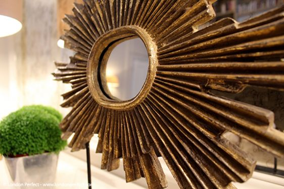 Golden sculpture adds charm to the living room