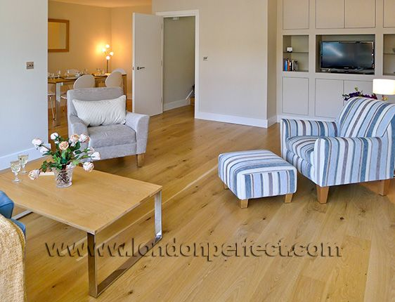 Large open plan living and dining area in this Chelsea apartment