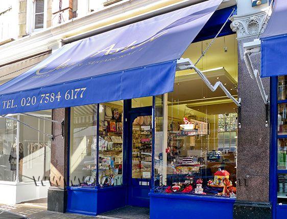 Jane Asher's bespoke cake store in London's Chelsea Green