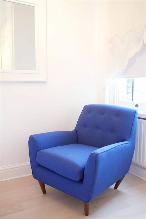 Blue Armchair in Sitting Room