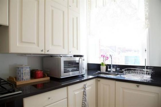 Kitchen is fully equipped with modern appliances