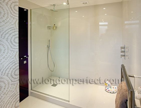 Deluxe tiled walk-in shower in The Mayfair rental