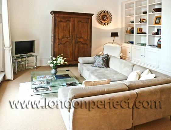 Spacious Living Room In Central Kensington London England