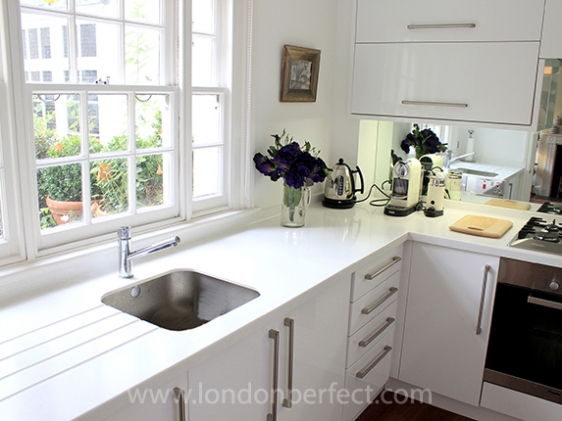 Fully remodelled modern and sunny kitchen in London