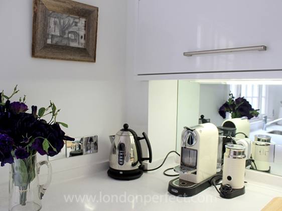 Beautiful modern kitchen in Chelsea mews home