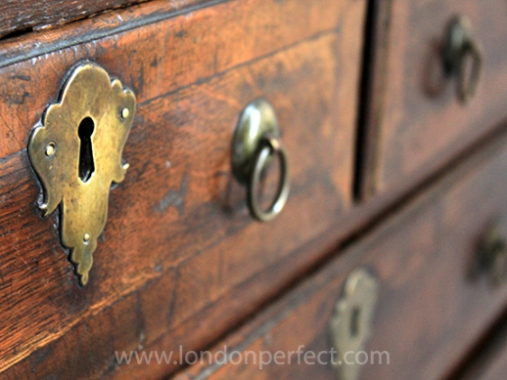 Beautiful details on the antique furniture at the Wellesley