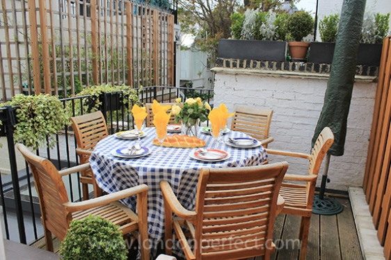 Enjoy dining al fresco on your own private terrace in London