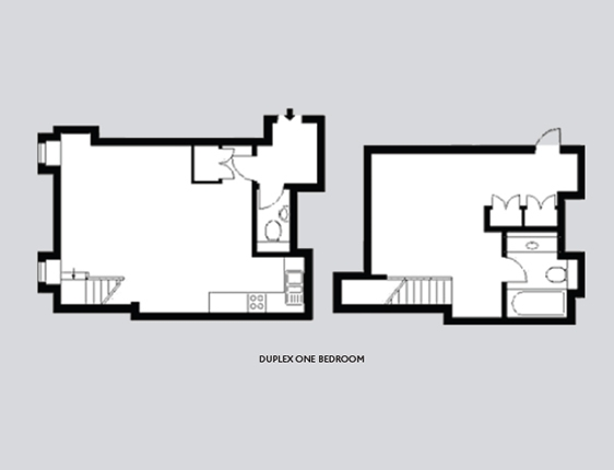 One bed quadplex plans joy studio design gallery best for One bedroom duplex plans