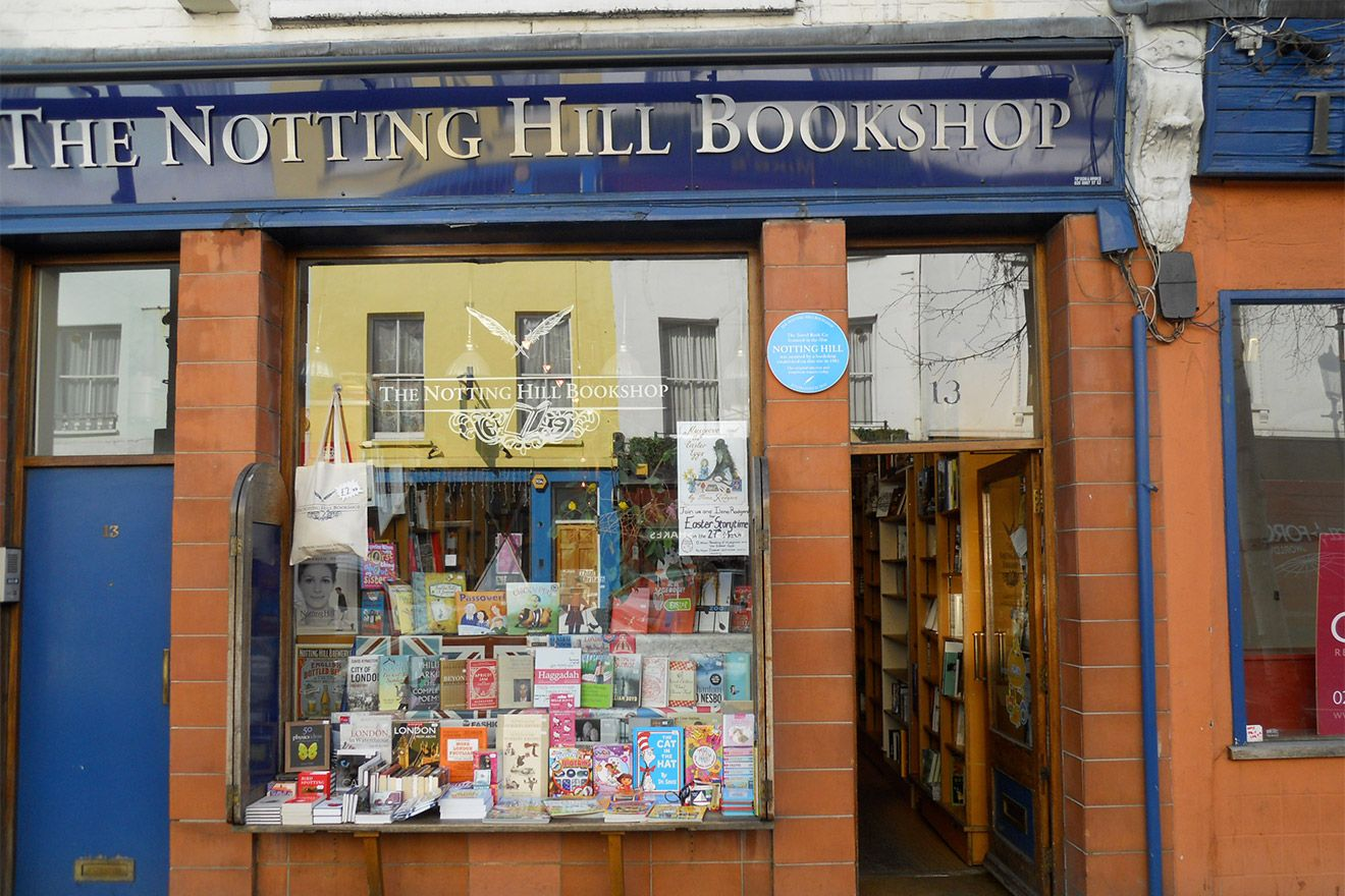 Charming bookstore in Notting Hill
