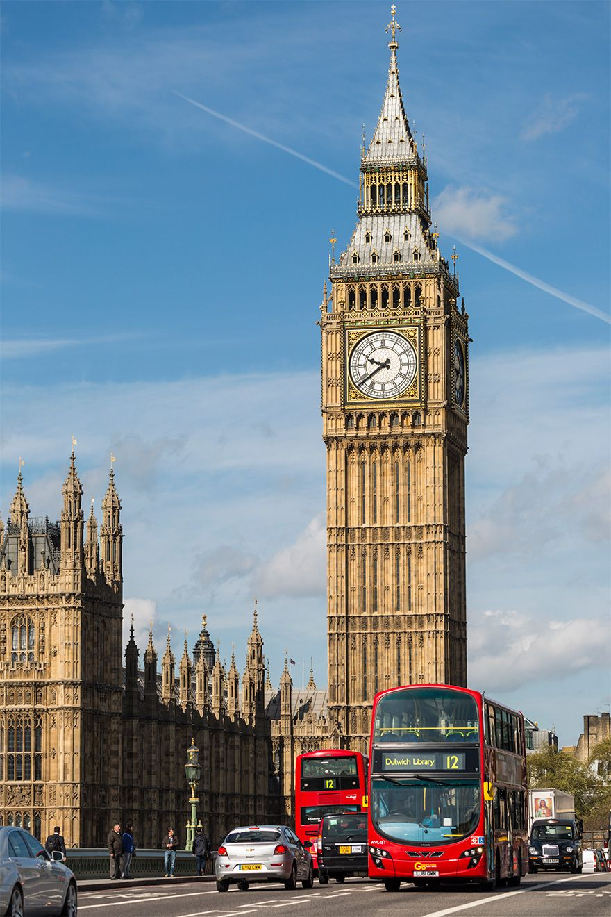 Take a double decker bus to the iconic Big Ben