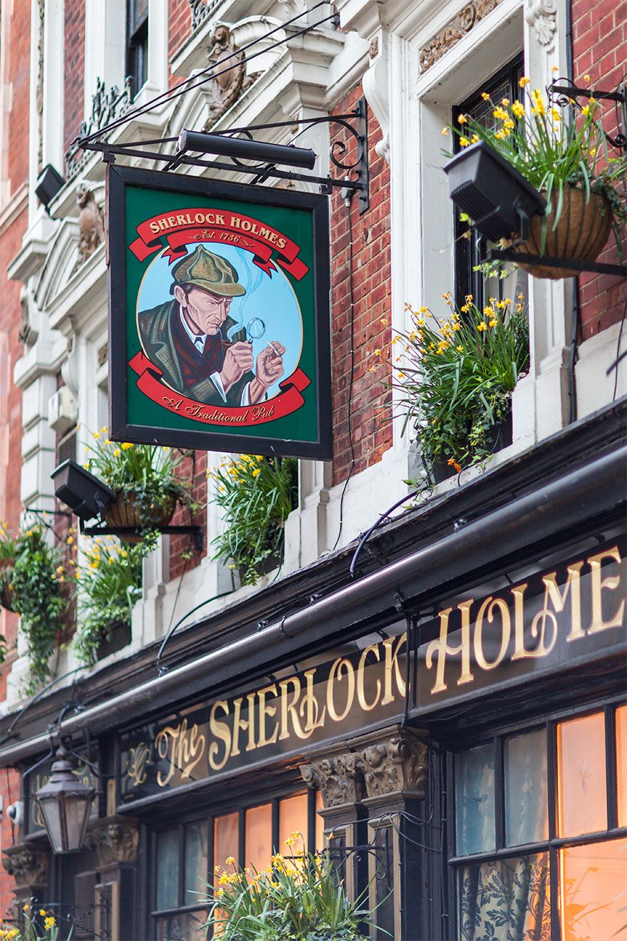 Visit charming local pubs like the Sherlock Holmes