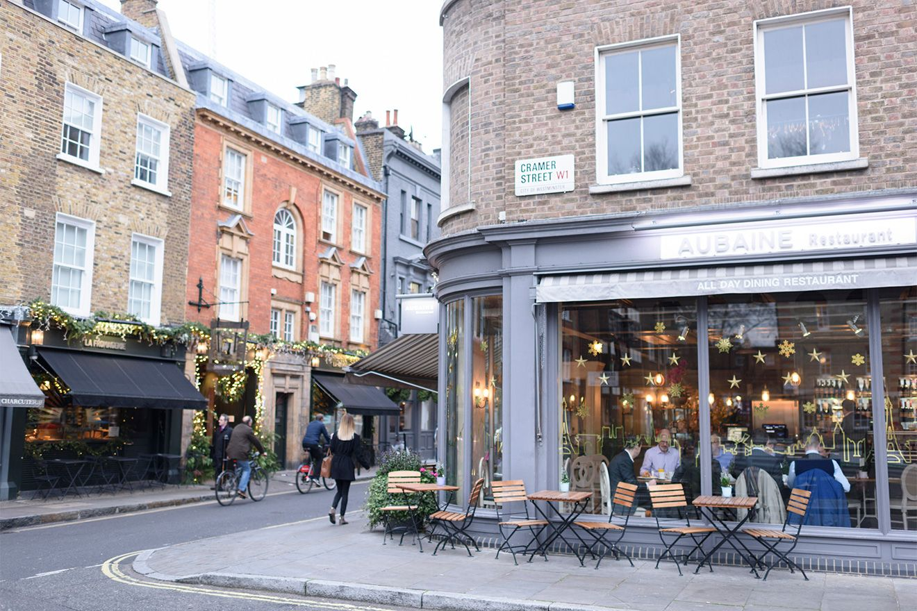 Lovely cafes and restaurants in Mayfair
