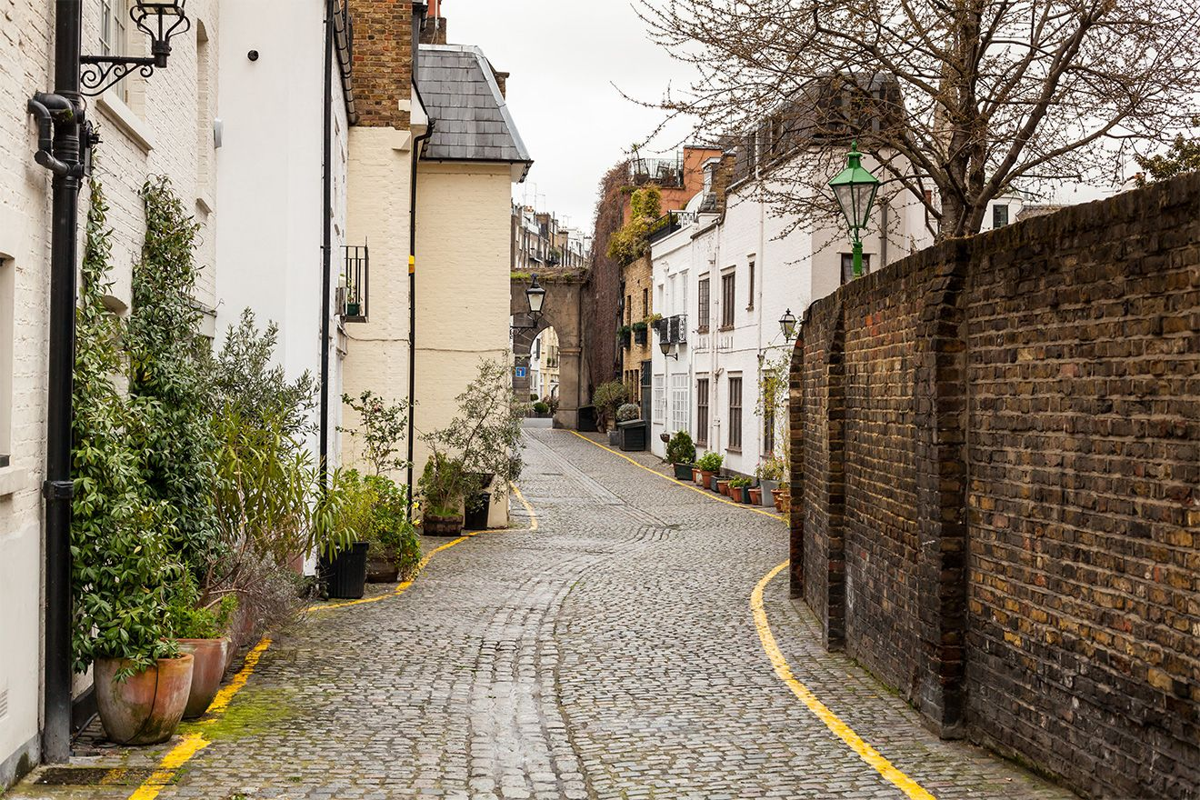 Mews homes in London