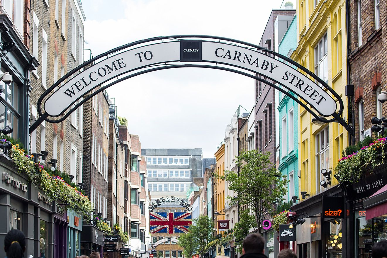 Carnaby Street sign over street