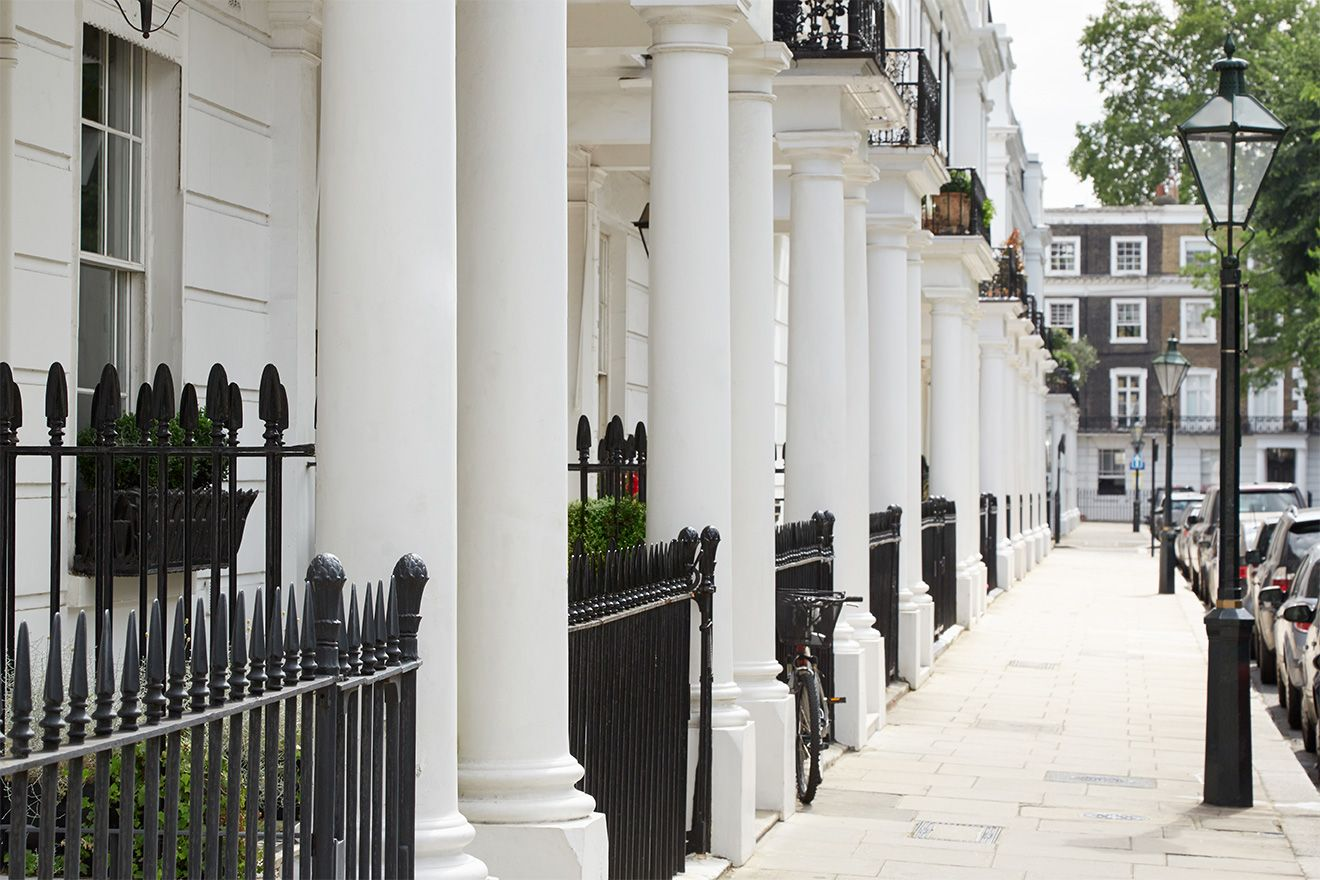 Charming street in Kensington London