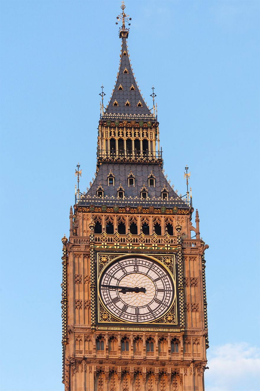 The iconic Big Ben clock