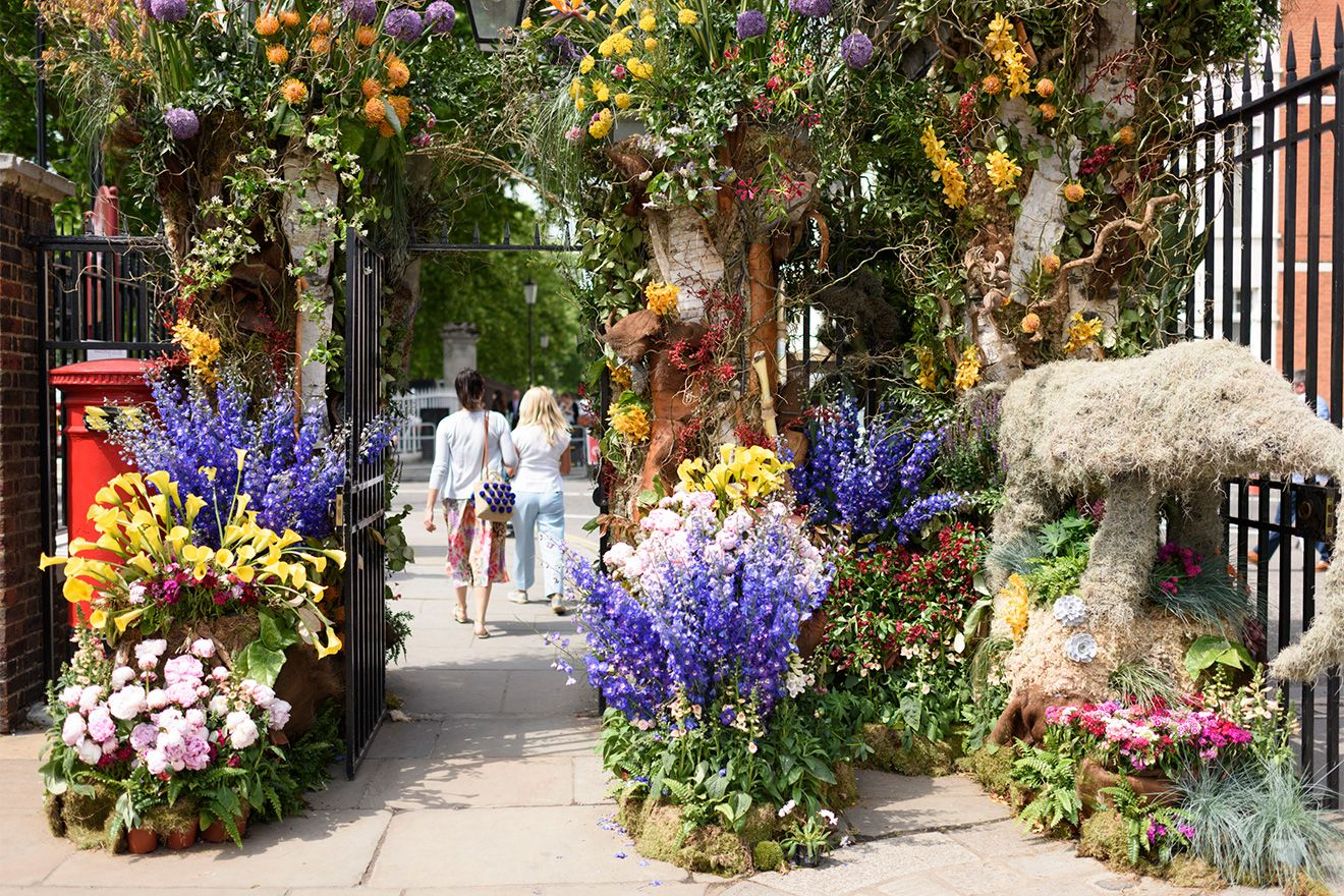 Flower displays at the Chelsea Flower Show