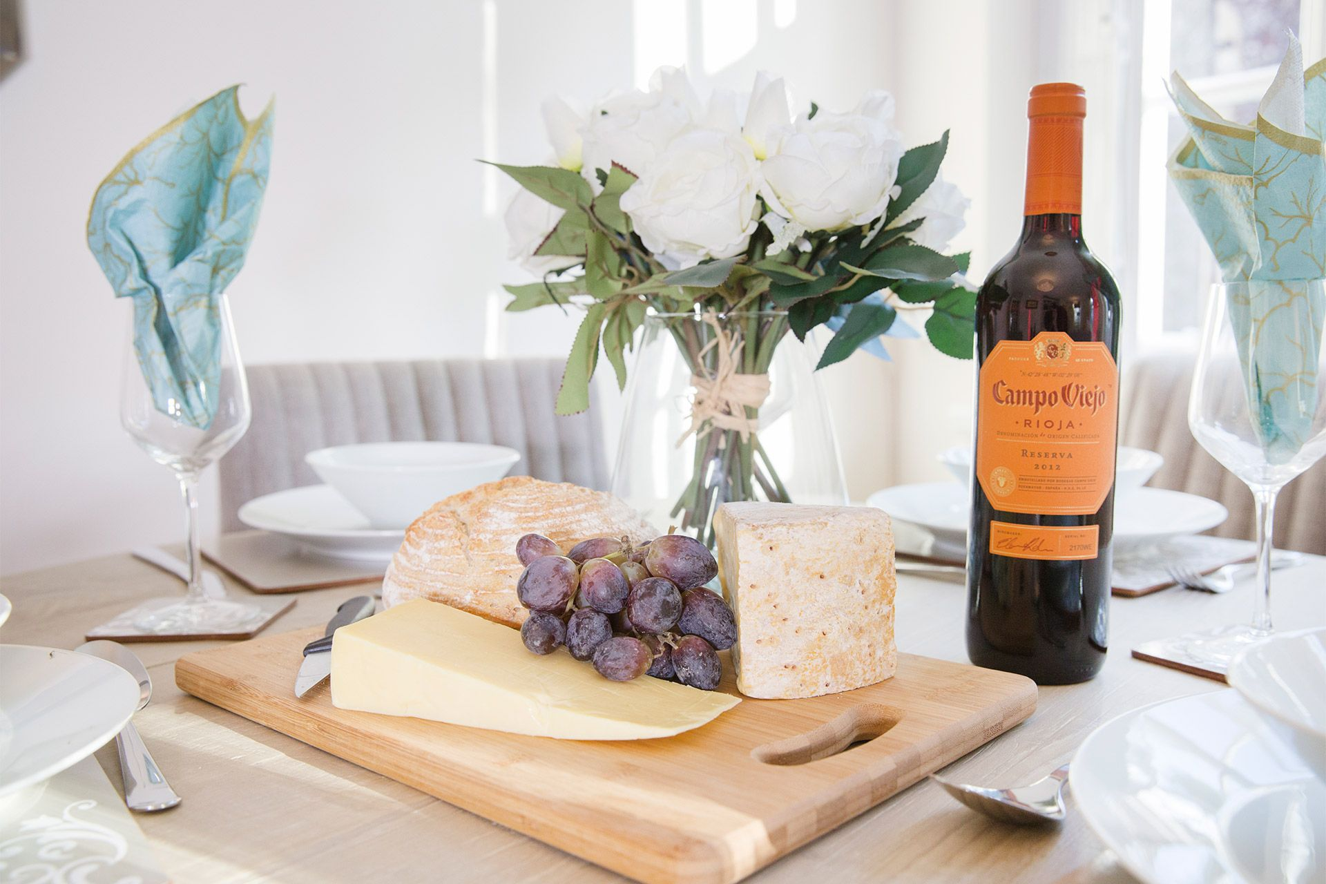 Cheese board in kitchen of the Gordon vacation rental offered by London Perfect