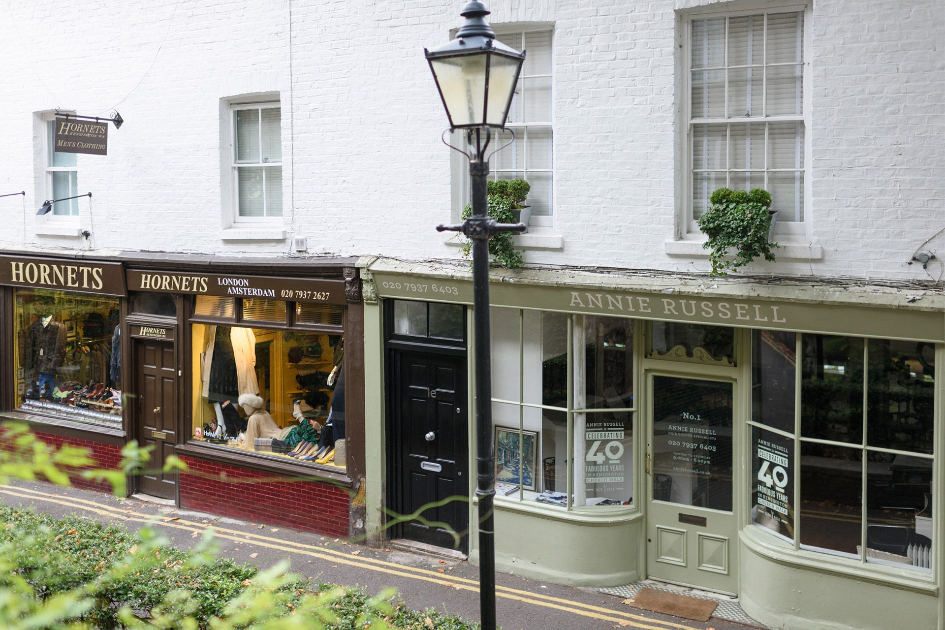 Charming local shops in Kensington London