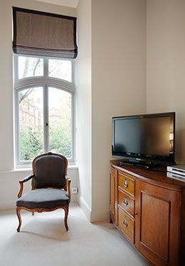 Television in first Bedroom London Rental
